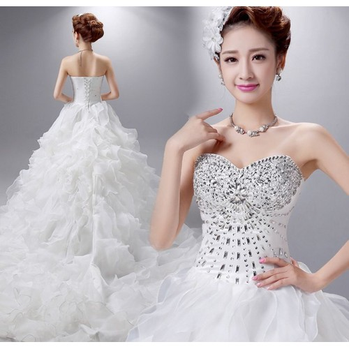Robe de mariage de luxe pas cher