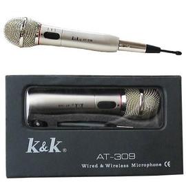 k k at 309 micro microphone sans fil de chant karaok. Black Bedroom Furniture Sets. Home Design Ideas