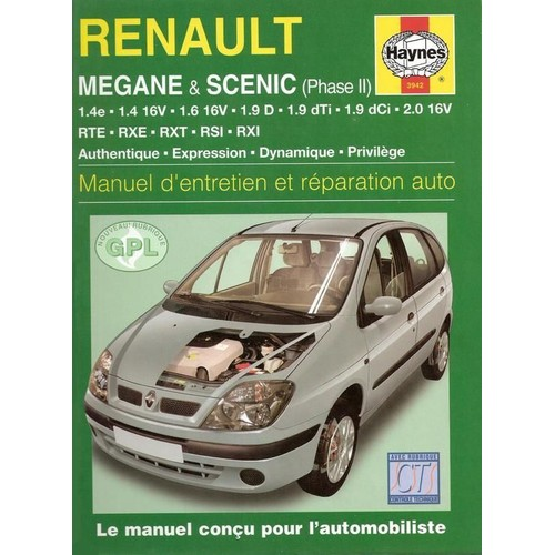 renault megane scenic phase 2 manuel d 39 entretien et reparation auto de manuel entretien haynes. Black Bedroom Furniture Sets. Home Design Ideas