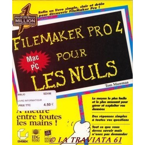 Filemaker Pro 4 pour les nuls - Tom Maremaa