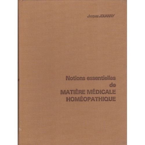 matiere medicale homeopathique