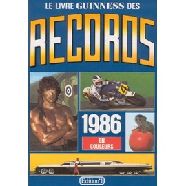 le livre guiness des records 1986 de mc whirter noris. Black Bedroom Furniture Sets. Home Design Ideas