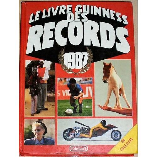 le livre guinness des records 1987 de mcwhirter norris. Black Bedroom Furniture Sets. Home Design Ideas