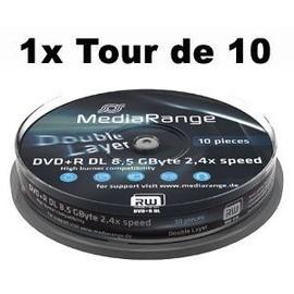 offer buy  MediaRange Tour de DVD R DL Go min double couche vitesse x Support amovible
