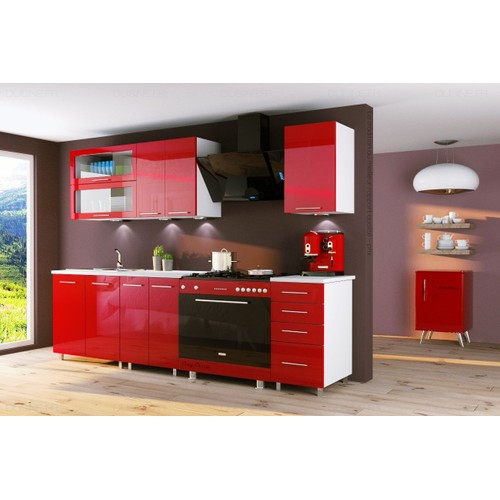 meubles cuisine rouge aclacments with meubles cuisine rouge latest meuble bas cuisine ikea. Black Bedroom Furniture Sets. Home Design Ideas