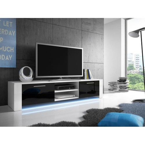 meuble tv noir achat et vente neuf d 39 occasion sur priceminister. Black Bedroom Furniture Sets. Home Design Ideas