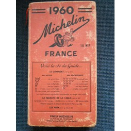Guide Michelin 1960 : France de MICHELIN