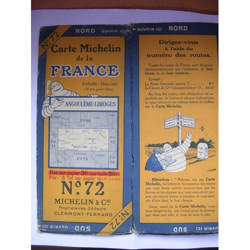 Angouleme-Limoges-Carte Michelin De France-N°72 de Michelin Michelin