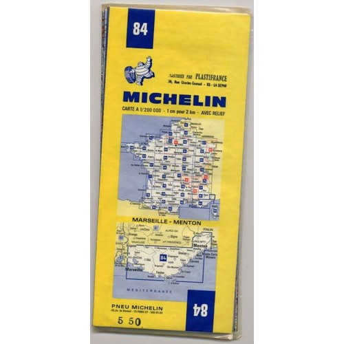 carte routi re marseille menton de n 84 michelin format carte plan. Black Bedroom Furniture Sets. Home Design Ideas