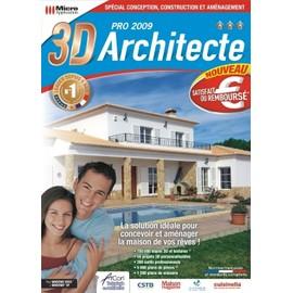Micro application 3d architecte pro 2009 achat et vente for 3d architecte pro