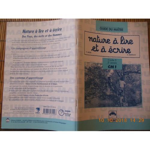 Nature A Lire Et A Ecrire Livre Du Maitre Cm1