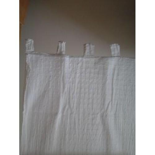 paire de voilages blancs achat vente de rideaux priceminister rakuten. Black Bedroom Furniture Sets. Home Design Ideas