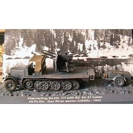 Vehicule Militaire Allemand - Panzer Flakvierling Sd Kfz 7-1 + Sd Ah 51 Trailer 1942 - 1/72