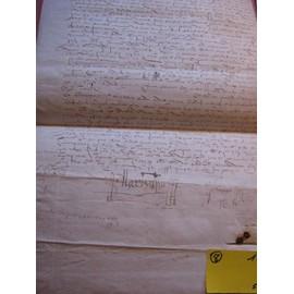Parchemin De 1575 (Sous Henri Iii) - Manuscrit 56 X 29 Cm