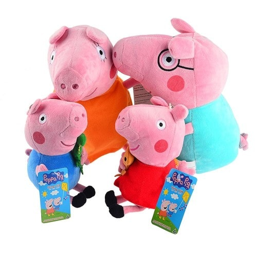 peluche peppa pig achat vente neuf d 39 occasion. Black Bedroom Furniture Sets. Home Design Ideas