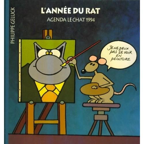 l 39 ann e du rat agenda le chat 1994 cartonnage diteur illustr d 39 un de philippe geluck. Black Bedroom Furniture Sets. Home Design Ideas