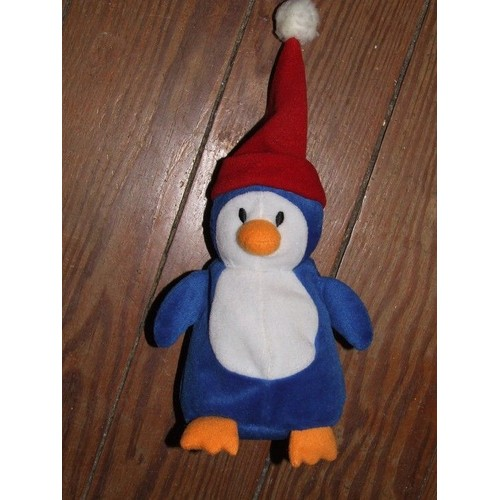 pingouin graine d eveil doudou peluche bleu blanc orange. Black Bedroom Furniture Sets. Home Design Ideas