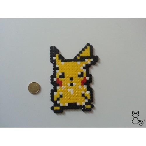 Pixel Art Tête De Pikachu