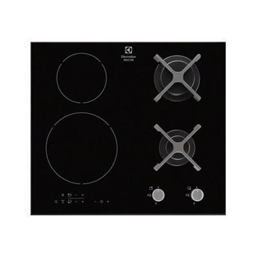 Electrolux EGD6576NOK - Table de cuisson mixte induction et gaz - 4 plaques  de cuisson - Niche - largeur   56 cm - profondeur   49 cm - noir 4d9782254138