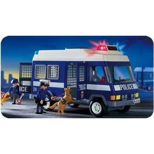 Playmobil 3166 policiers fourgon achat et vente - Playmobil camion police ...