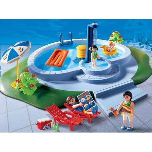 Playmobil 3205 piscine et famille achat et vente for Piscine de playmobil