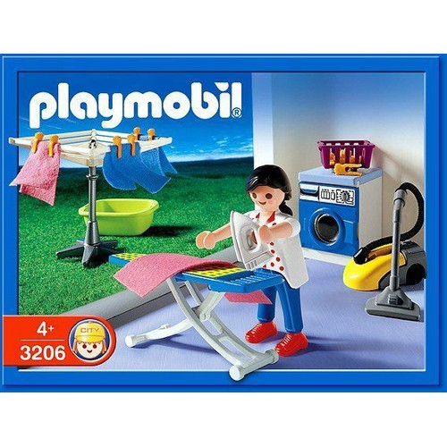 playmobil 3206 m nag re buanderie achat vente de jouet rakuten. Black Bedroom Furniture Sets. Home Design Ideas