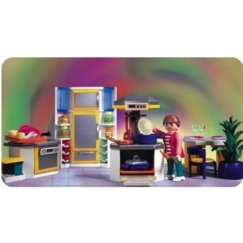 Playmobil 3968 cuisine contemporaine neuf et d 39 occasion for Salle a manger playmobil 5335