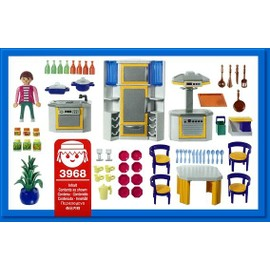 playmobil 3968 cuisini re et cuisine moderne achat et vente. Black Bedroom Furniture Sets. Home Design Ideas