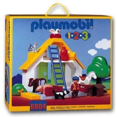 playmobil 1 2 3 6804 ferme achat vente de jouet. Black Bedroom Furniture Sets. Home Design Ideas