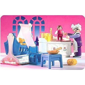 Playmobil 5313 chambre b b traditionnelle achat et vente for Playmobil chambre bebe