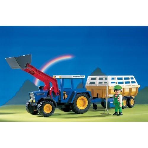 playmobil ferme 3073 le tracteur et sa remorque neuf et d 39 occasion. Black Bedroom Furniture Sets. Home Design Ideas
