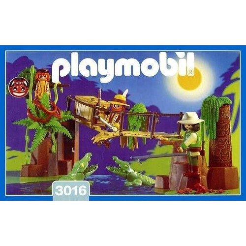 playmobil jungle 3016 le pont aux crocodiles
