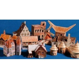 maquettes papier 10 maisons du monde d couper et coller de ploquin genevi ve format livre. Black Bedroom Furniture Sets. Home Design Ideas