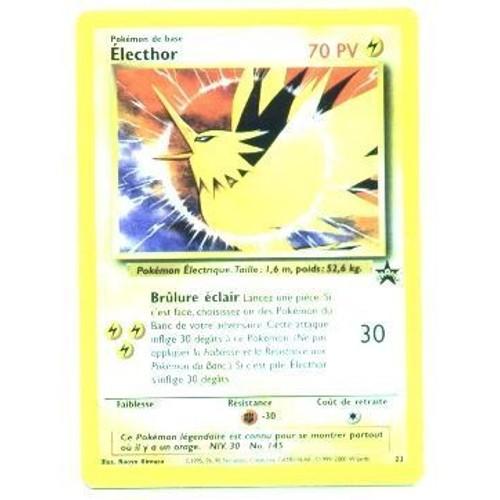 Pokemon promo carte francaise black star n 23 lecthor - Code promo collectionnez les etoiles frais de port gratuit ...