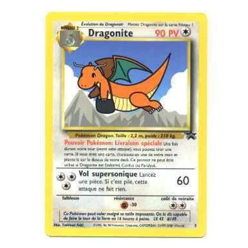 Pokemon promo carte francaise black star n 5 dragonite - Code promo vente du diable frais de port offert ...