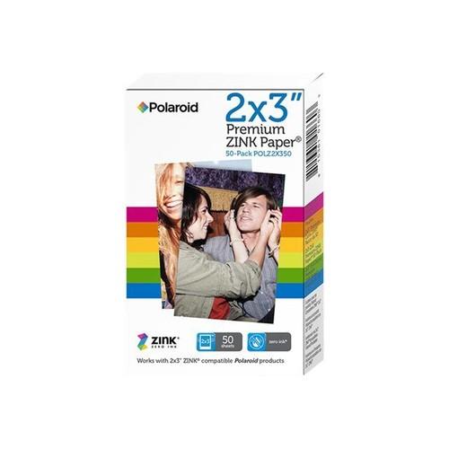 Polaroid Premium ZINK Paper - Papier photo autocollant - 5.08 x 7.62 mm 50  feuille(s) - pour Polaroid Snap Instant, Snap Touch, Z2300 b2b589a9f773