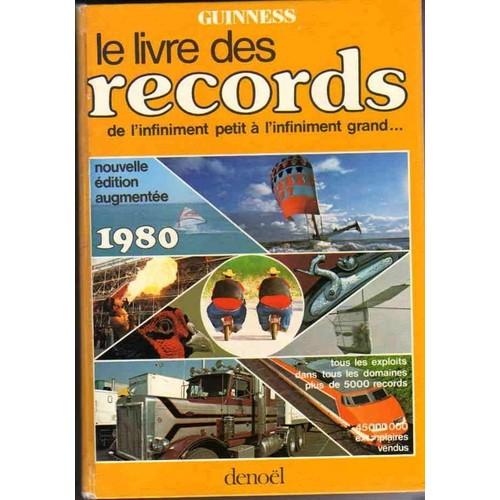 le livre des records 1980 de guiness r format beau livre. Black Bedroom Furniture Sets. Home Design Ideas
