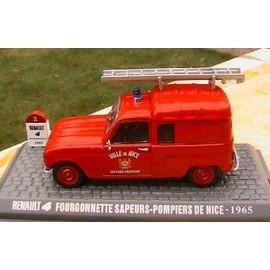 renault 4 r4 fourgonnette sapeurs pompiers de nice 1965 universal hobbies 1 43. Black Bedroom Furniture Sets. Home Design Ideas