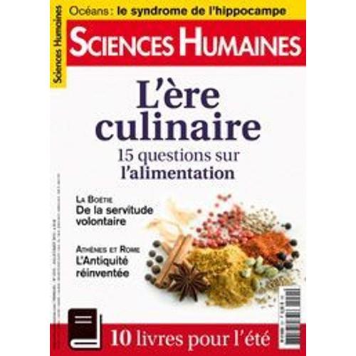 Revue cuisine sciences humaines for Revue sciences humaines