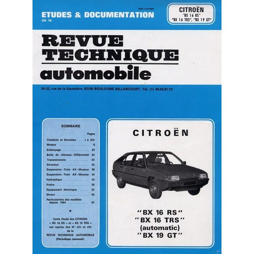 citroen bx 16 rs bx 16 trs automatic bx 19 gt de revue. Black Bedroom Furniture Sets. Home Design Ideas