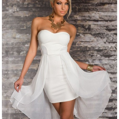 Robes de mode robe bustier courte blanche pas cher for Robes de mariage cyber lundi