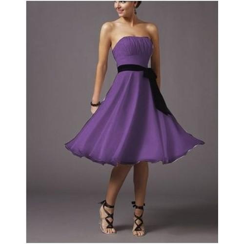 Robe bustier violette courte