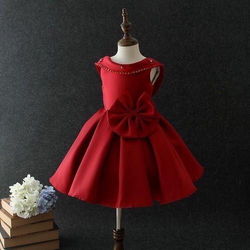 Robe ceremonie fillette rouge