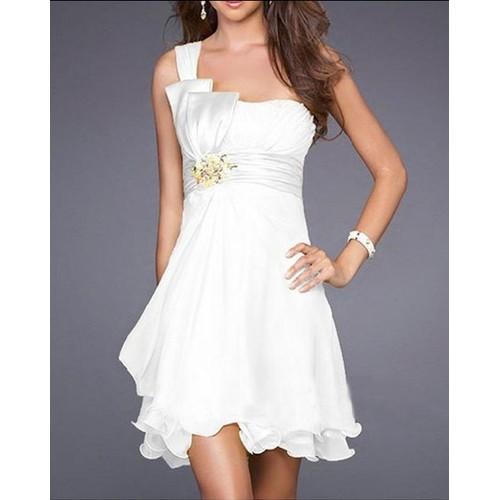 Robe de cocktail blanche pas cher