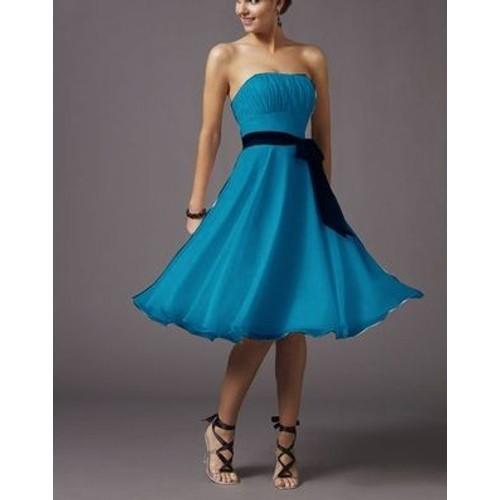 Robe de cocktail pas cher bleu turquoise