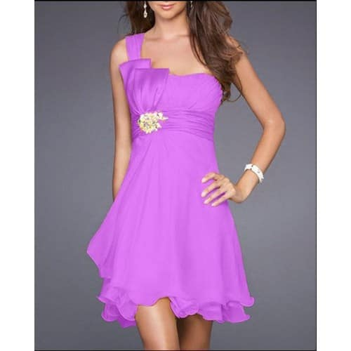 Robe cocktail mariage violette