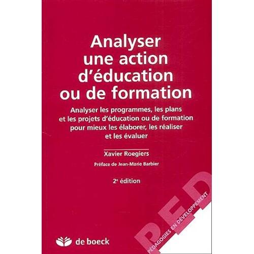 analyser une action d u0026 39  u00e9ducation ou de formation