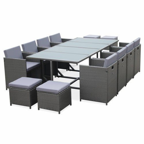 salon de jardin encastrable 8 places pas cher ou d 39 occasion sur rakuten. Black Bedroom Furniture Sets. Home Design Ideas