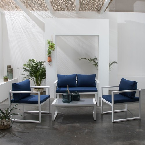 salon jardin blanc bleu pas cher ou d\'occasion sur Rakuten