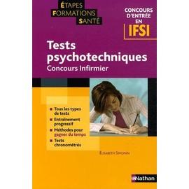 Concours D'entr�e En Ifsi Tests Psychotechniques - Concours Infirmier de Elisabeth Simonin